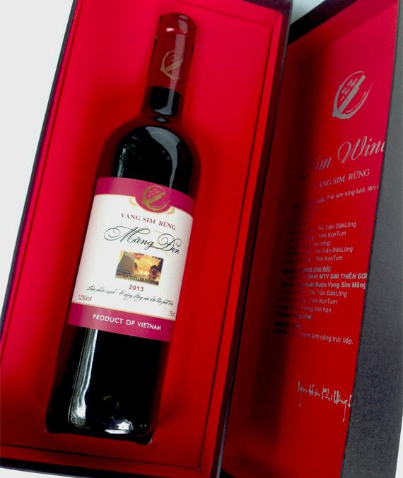 Rượu Vang Sim Rừng Thiên Sơn 12%Vol 375ml